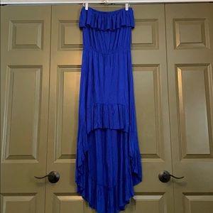 Anthropologie High Low Blue Dress. Sz M